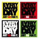 EVERY DAMN DAY ステッカー 4色セット